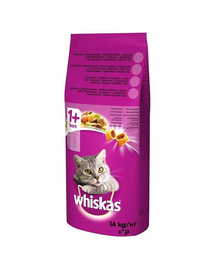 WHISKAS Adult hrana uscata pisici adulte, cu ton si legume 14kg + Recompense GRATIS