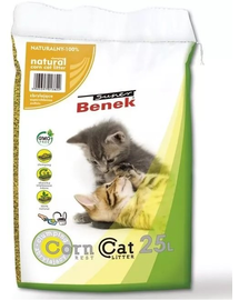 BENEK Super Corn Cat tropical fruits nisip pentru litiera, fructe tropicale 25 L x 2 (50 L)