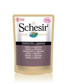 SCHESIR Hrana umeda pentru pisici, cu ton si quinoa, 85 g