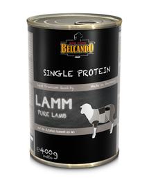 BELCANDO Single Protein hrana umeda pentru caini, cu miel, 24x400 g