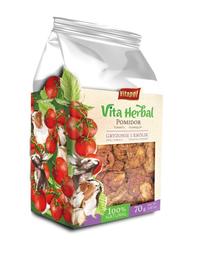 VITAPOL Vitaherbal gustari cu rosii uscate, pentru rozatoare si iepuri 70g