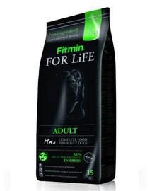 FITMIN For Life Adult hrana uscata caini adulti 15 kg + Dr PetCare MAX Biocide Collar zgarda protectie impotriva puricilor si a insectelor 60 cm GRATIS