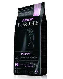 FITMIN Dog For Life Puppy hrana uscata caini juniori 15 kg + Dr PetCare MAX Biocide Collar zgarda protectie impotriva puricilor si insectelor 35 cm GRATIS