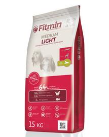 FITMIN Medium Light hrana uscata caini adulti talie medie 15 kg + Dr PetCare MAX Biocide Collar zgarda protectie impotriva puricilor si a insectelor 60 cm GRATIS
