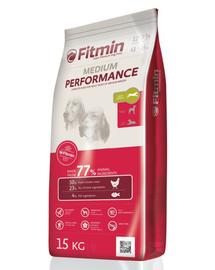 FITMIN Medium Performance hrana uscata caini adulti talie medie 15 kg + Dr PetCare MAX Biocide Collar zgarda protectie impotriva puricilor si a insectelor 60 cm GRATIS