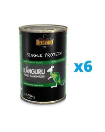BELCANDO Single Protein hrana umeda pentru caini, cu carne de cangur 6x400 g