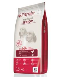 FITMIN Medium Senior hrana uscata caini seniori de talie medie 15 kg + Dr PetCare MAX Biocide Collar zgarda protectie impotriva puricilor si a insectelor 60 cm GRATIS