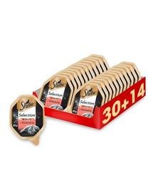 SHEBA Selection in Sauce hrana umeda pentru pisici, vita in sos 44 x 85g (30 + 14 gratis)