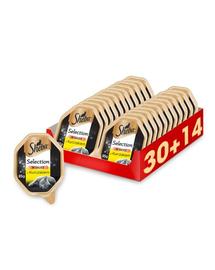 SHEBA Selection in Sauce hrana umeda pentru pisici, pui in sos 44 x 85g (30 + 14 gratis)