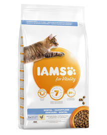 IAMS For Vitality Dental Hrana uscata igena orala pentru pisici adulte 3 kg