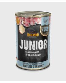 BELCANDO Super Premium hrana umeda pentru juniori, cu pui si oua, 400 g