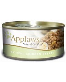 APPLAWS Kitten hrana umeda pentru pisoi, pui in aspic 70 g x 12 (10+2 GRATIS)