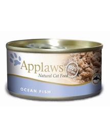 APPLAWS hrana umeda pentru pisici, cu peste oceanic 70 g x 12 (10+2 GRATIS)