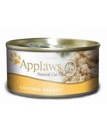 APPLAWS hrana umeda pentru pisici, cu pui si branza 70 g x 12 (10+2 GRATIS)
