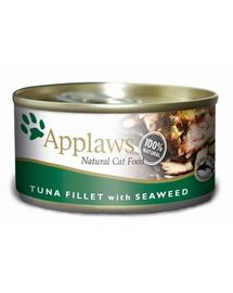 APPLAWS hrana umeda pentru pisici, ton si alge 70 g x 12 (10+2 GRATIS)