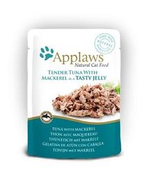 APPLAWS hrana umeda pentru pisici ton si macrou in aspic 70 g x 12 (10+2 GRATIS)