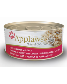 APPLAWS hrana umeda pentru pisici, cu pui si rata 70 g x 12 (10+2 GRATIS)