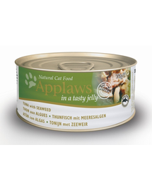 APPLAWS hrana umeda pentru pisici, ton si alge marine in jeleu 70 g x 12 (10+2 GRATIS)