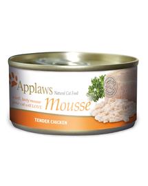 APPLAWS Cat Mousse hrana umeda pentru pisici, cu pui 70 g x 12 (10+2 GRATIS)