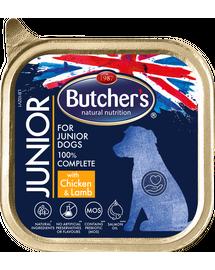BUTCHER'S Functional Dog Junior hrana umeda caini juniori, pate cu miel si pui 150g x 3 (2+1 GRATIS)
