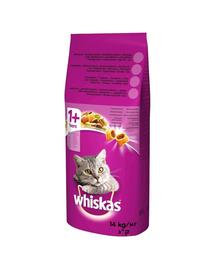 WHISKAS Adult hrana uscata pisici adulte, cu pui si legume 14kg + Dr PetCare MAX Biocide zgarda protectie pisici impotriva puricilor si a insectelor 43 cm GRATIS