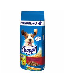 CHAPPI hrana uscata caini adulti cu vita, carne de pasare si legume 27 kg (13,5 kg x 2) + Dr PetCare MAX Biocide zgarda protectie impotriva puricilor si a insectelor, pentru caini de talie medie 60 cm GRATIS