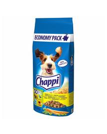 CHAPPI hrana uscata caini adulti cu pasare si legume 27kg (13,5 kg x 2) + Dr PetCare MAX Biocide zgarda protectie impotriva puricilor si a insectelor, pentru caini de talie medie 60 cm GRATIS