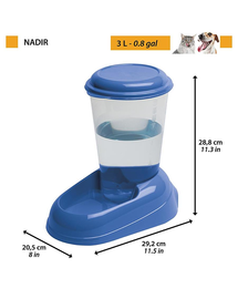 FERPLAST Nadir distribuitor apa pentru caine / pisica 3 L, mix cromatic