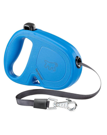 FERPLAST Flippy One Tape S Lesa automata cu banda pentru caini 4 m, albastru