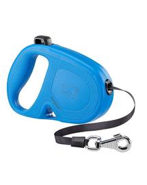 FERPLAST Flippy One Tape L Lesa automata cu banda pentru caini 5 m, albastru