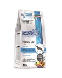 FORZA10 Medium Diet hrana uscata hipoalergenica caini adulti de rase medii, cu peste 12 kg
