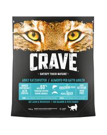CRAVE hrana uscata fara cereale pentru pisici, cu somon si peste alb 5 x 750 g