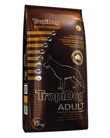 TROPIDOG Super Premium Adult S miel, somon și orez 8 kg hrana uscata pentru caini de rasa mica