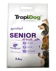 TROPIDOG Premium Senior curcan si orez 2,5 kg hrana uscata pentru toate taliile