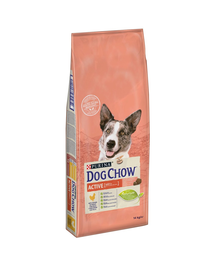 PURINA Dog Chow Active hrana uscata pentru caini activi, cu pui 14 kg