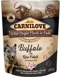 CARNILOVE  Hrana umeda pentru caini cu bivol si petale de trandafir 300g