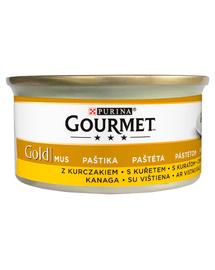 GOURMET Gold Mus hrana umeda pentru pisici, cu pui 24 x 85 g