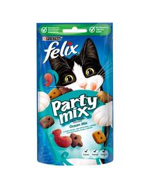 FELIX Party Mix Ocean Recompense cu peste pentru pisici 8x60g