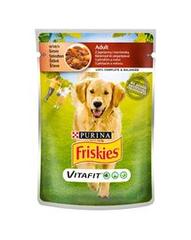 FRISKIES Vitafit Adult hrana umeda pentru caini adulti cu miel si morcov in sos 20x100g