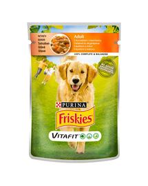 FRISKIES Vitafit Adult hrana umeda pentru caini adulti cu pui și morcov in sos 20x100g