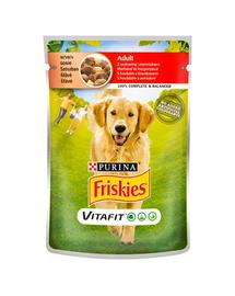 FRISKIES Vitafit Adult hrana umeda pentru caini adulti cu carne de vita si cartofi in sos 20x100g