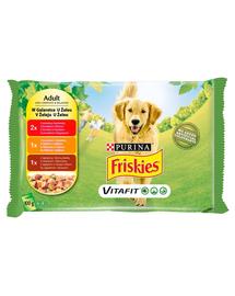 FRISKIES Vitafit Mix Hrana umeda mix in jeleu pentru caini adulti 4x100g