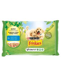 FRISKIES Vitafit Junior hrana umeda pentru caini junior cu pui si mazare in jeleu 40x100g