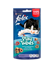 FELIX Play Tubes Recompense cu peste si creveti la cuptor pentru pisici 8x50 g