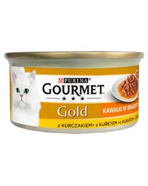 GOURMET Gold Sauce Delights Hrana umeda pentru pisici adulte 85 g