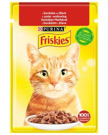 FRISKIES hrana umeda cu carne de vita pentru pisici adulte, 26x85g