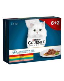 GOURMET Perle Hrana umeda pentru pisci adulte 8x85g