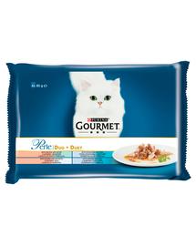 GOURMET Perle Duet Hrana umeda cu peste pentru pisici adulte 4x85g