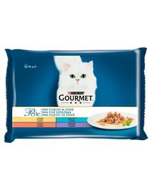 GOURMET Mini Hrana umeda in sos pentru pisici adulte 4x85g