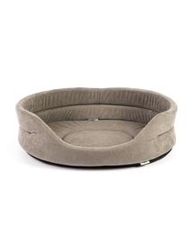 INTERZOO Pat oval pentru caini, gri, Marime XS: 47x38x15 cm